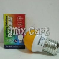 Lampu Tidur LED Ekonomat Deko 1 Watt - Kuning (Yellow)