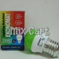 Lampu Tidur LED Ekonomat Deko 1 Watt - Hijau (Green)