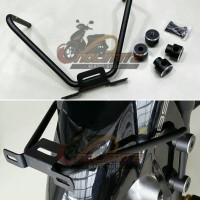 Braket / Dudukan Plat Nomer Yamaha NMAX + 2 Pasang Jalu Spakbor Depan