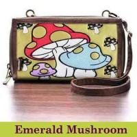 Dompet Etnik HPO Mokamula Premium Emerald Mushroom