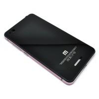 Aluminium Tempered Glass Hard Case for Xiaomi Redmi 3 - Black/Pink