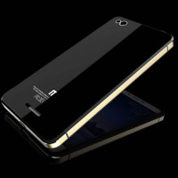 Aluminium Tempered Glass Hard Case for Xiaomi Redmi 3 - Black Gold