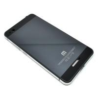 Aluminium Tempered Glass Hard Case for Xiaomi Redmi 3 - Black/Silver