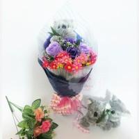 Buket Boneka Koala Hand bouquet hadiah wisuda bunga