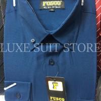 Kemeja Tangan Panjang Fusco Polos Biru Dongker