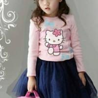 Stelan Rok Tutu Hellokitty Baju Anak Import Branded