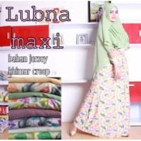 Gamis Dress Maxi Jersey Super Khimar Ceruty Draperry Layer
