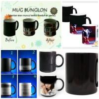 Mug Bunglon Foto Sablon digital / Mug Magic (satuan)