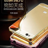 Xiaomi Redmi 3 Bumper Hard Case Mirror Aluminium With Back Case Pc Mir