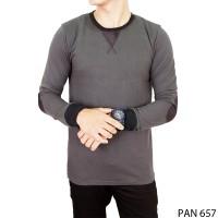 Casual Outfit Long Sleeve Men Tshirts Katun Abu  PAN 657