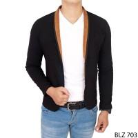 Casual Blazer Outfit Stretch Hitam  BLZ 703