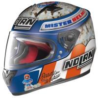 Helm Nolan N64 Roccoli Popcorn Blue Fullface Full N 64 Premium