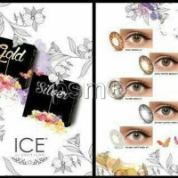 Paket Softlens EXOTICON Ice gold silver (khusus normal)