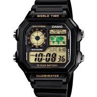 Jam Tangan Casio Standard AE-1200WH-1BV Original
