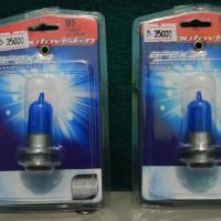 Lampu Bohlam Autovision H6 Diamon Blue / Putih 36w