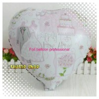 """Balon Foil Love Wedding Happily Ever After"""""""