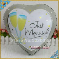 "Balon Foil Love Just Married"""