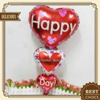 "Balon Foil Love Link Happy Day"""
