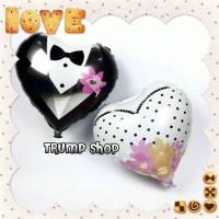 Balon Foil Love Bride & Groom