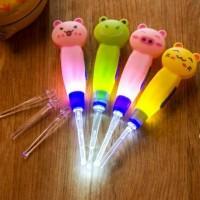 Earpick Cartoon Korek Kuping Karakter Lampu LED Cute Animal