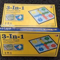 3 in 1 Magnetic Board / Ludo / Snakes / Chinese Checker
