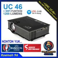 Unic UC46 WIFI 1200 Lumens Mini Projector   Portable Proyektor UC 46