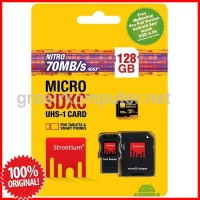 Strontium 128GB NITRO MicroSD with Card Reader up to 70 mb/s