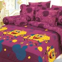 Bed Cover Set Sprei Rumbai Saputra 180 x 200 New Spongebob
