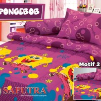 Bed Cover Set Saputra Single 120 x 200 New Spongebob