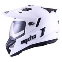 MDS SUPER PRO SUPERMOTO WHITE PUTIH HELM FULL FACE DOUBLE VISOR M L XL