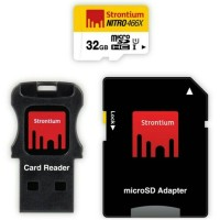 Strontium 32GB NITRO MIcroSD with Card Reader up to 70mb/s