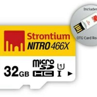 Strontium 32GB NITRO MicroSD with OTG Card Reader up to 70mb/s