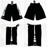 Celana Basket Nike Elite Stripe Hitam - Putih 2 - Hitam, S