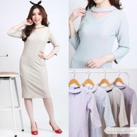 Zintyca Texture Bodycon Mini Dress