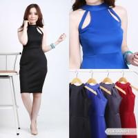 Yolansya Plain Bodycon Mini Dress
