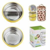 GiG baby Stainless Steel Rounded Lunch Box / kotak makan stainless