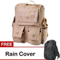 Tas Kamera Coklat Natgeo (National Geographic) Gratis Jas Hujan Kode F