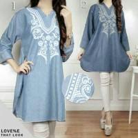 blouse abstrak jumbo