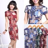 Delifia Batik Bodycon Mini Dress