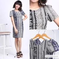 Oyawqiu Batik Bodycon Mini Dress