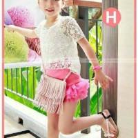 Setelan Baju rok fashion Anak Import merk GW122-H