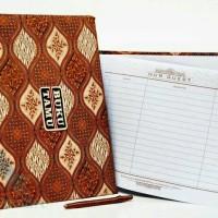 souvenir pernikahan buku tamu batik