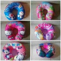 Bantal Leher Karakter Printing Kuda Pony Mickey Hello Kitty Doraemon
