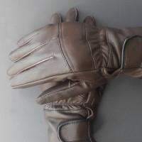 sarung tangan kulit asli garut , sarung tangan motor - Hitam