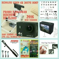 paket EKEN Sony 4k 30fps Action kamera+vgen 16GB+tongsisatanta