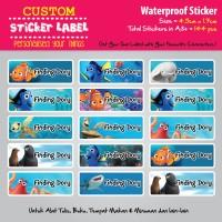 Sticker Label Finding Dory - Stiker nama waterproof