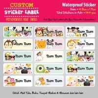 Sticker Label Disney Tsum Tsum - Stiker nama waterproof