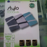 Powerbank Power bank HP batere baterai hippo stylo simple pack 7000mah
