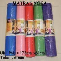 Matras Yoga 173 x 61 x 6 olahraga kesehatan anti slip gym