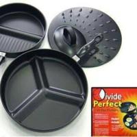 DIVIDE WONDER PAN / WAJAN TEFLON SEKAT 3 HEMAT GAS